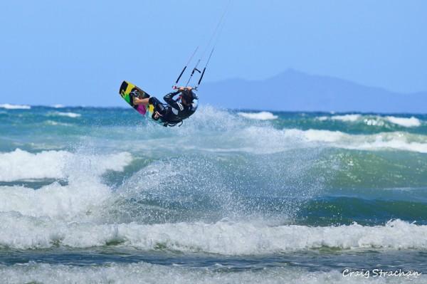 Kitesurfing on Muizenberg beach